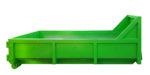Odkryty kontener KP 3 na gruz z wrotami i rolkami