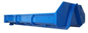 Odkryty kontener KP 3 z rolkami jezdnymi i klapo-wrotami