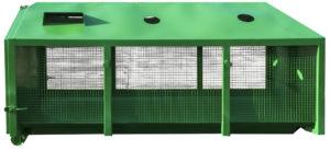 Zakryty kontener KP 7 na odpady selektywne
