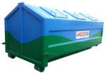 Przeginany zakryty kontener KP 6 z uchylnymi klapami wrzutowymi