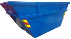 Symetryczny kontener na gruz mulda A08 do transportu bramowego
