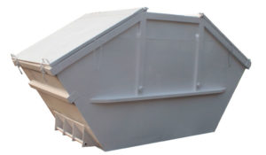 Symetryczny kontener mulda M10 z uchylnymi deklami