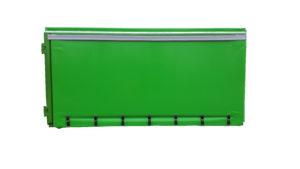 Kontener plandekowiec KP 18 z rolkami jezdnymi