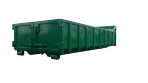 Odkryty kontener KP 15 DH z rolkami jezdnymi