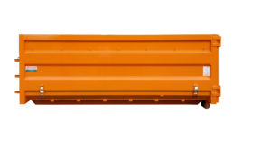 Odkryty, przeginany kontener KP 16 ze zwijaną plandeką i rolkami