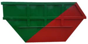 Asymetryczny kontener mulda M13 do transportu bramowego
