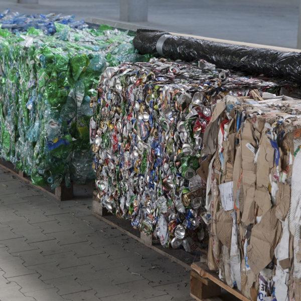 Sprasowane odpady