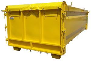 Kwasoodporny kontener KP 20 DH z uszczelnianą klapą
