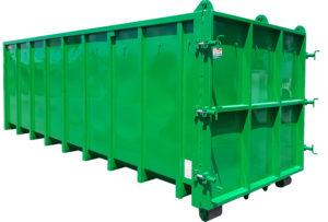 Odkryty kontener rolkowy KP 32 DH z uszczelnioną klapą
