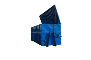 Stalowy kontener rolkowy KP 38 z otwieranym dachem