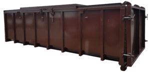 Szczelny kontener KP 20 z rozsuwaną klapą na odpady płynne