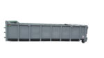 Szczelny odkryty kontener KP 20 DH z rolkami jezdnymi